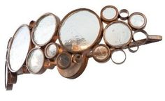 MUST HAVE- Fascination Collection 2-Light Bath Light, Hammered Ore Finish with Recycled Bottle Glass Shade, 25-Inch by 7-Inch by 6-Inch: Home Improvement