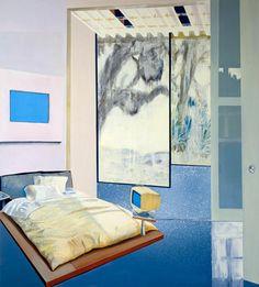 Dexter Dalwood: 2000 Bill Gates' Bedroom oil on canvas 203 x 183 cm