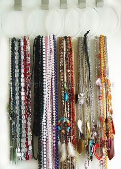 Jewellery Storage on Belt Hangers
