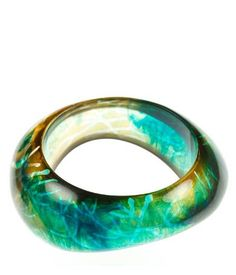 Forest Thick Resin bangle