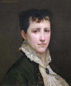 Elizabeth Jane Gardner (1837-1922), painted by William-Adolphe Bourguereau, 1879.  She married Bourguereau in 1896, after a 17-year engagement. (His mother disapproved of the match.)
