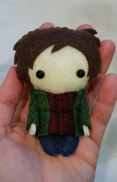 Sam Winchester Supernatural Pocket Plush Doll by WordsToSewBy