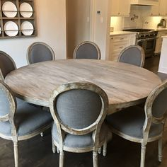 dining table Safety Guide For Buying Kids Furniture Your little one is precious, so safety is the fi Round Dinning Room Table, Dining Room Design, Round Kitchen Tables, Farmhouse Round Dining Table, French Country Dining Table, Round Tables, Solid Wood Furniture, Dining Furniture, Furniture Ideas