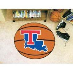 """Louisiana Tech Bulldogs Basketball Rug 29"""" Diameter"""