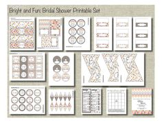 Bridal Shower Printable Party Kit