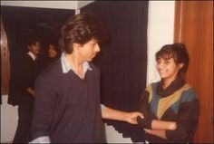 A young Shahrukh Khan with Gauri Khan  Shah Rukh Khan also known as SRK, is an Indian film actor, producer and television personality. #images #pictures #bollywood