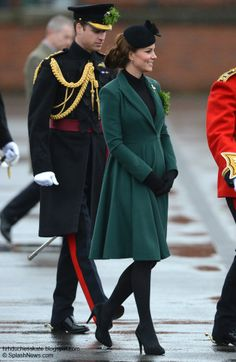 hrhduchesskate: Duke and Duchess of Cambridge at the St Patrick's Day Parade in Aldershot 3/17/13