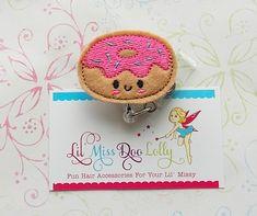 Embroidered Felt ID Badge Reel-Donut Badge Reel-Retractable ID