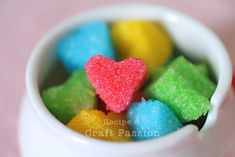 Colorful Sugar Cubes in Heart Shaped......