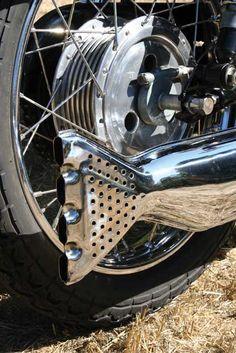 Velocette Venom clubman fishtail exhaust