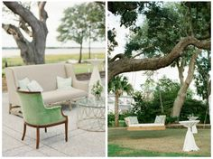 These vintage lounges are great for outdoor receptions