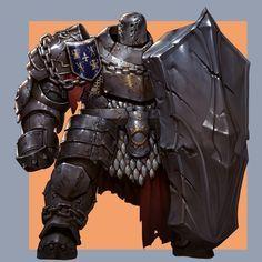 Awesome sense of weight and mass @ ArtStation - soul king-debot, daehun park Fantasy Armor, Dark Fantasy Art, Medieval Fantasy, Fantasy Character Design, Character Concept, Character Art, Dnd Characters, Fantasy Characters, Fantasy Inspiration