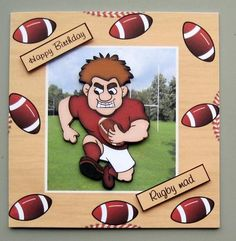 rugby birthday cards - Google Search