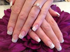 White French polish acrylic tips