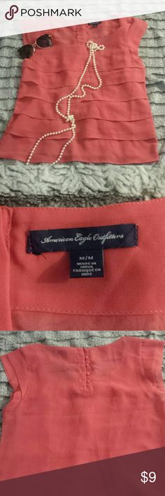 American eagle outfitters blouse From shoulder to bottom is 22 inches long, size m, 100% polyester American Eagle Outfitters Tops Blouses