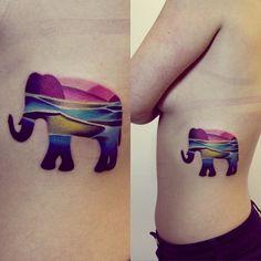 #sunset #elephant #sea #tattoo ☀