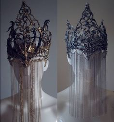 "5,837 Likes, 55 Comments - Agnieszka Osipa COSTUMES (@agnieszkaosipa) on Instagram: ""gold vs silver crowns with chain veil #agnieszkaosipa #crown #headpiece #headgear #silver #gold…"""