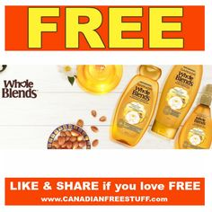 Request your FREE Garnier Whole Blends Moroccan Argan