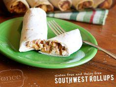 Gluten Free Dairy Free Southwest Roll-Ups