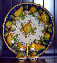 Photo of Majolica pottery including a decorative plate