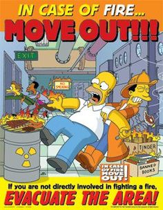 the simpsons funny Fire Safety Poster, Health And Safety Poster, Safety Posters, No Smoking, Office Safety, Workplace Safety, Lab Safety, Safety Tips, Safety Work