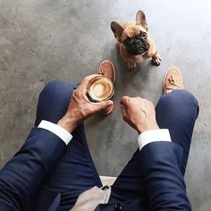 He wants a sip. #coffeenclothes #coffee #clothes