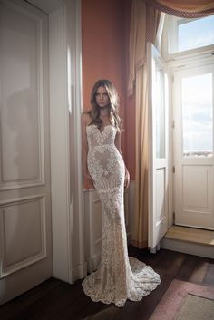 #Berta Style 15-109 is a work of art. A jaw-dropping pattern throughout, this fit and flare heightens the creative appeal of this modern version of a classic embroidered gown. via @strictlyweddings