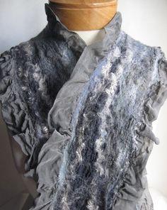 Beautiful nuno felted shawl