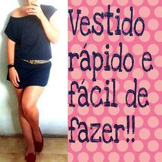 Vestido Camisetão/TeeDress rápido e fácil.
