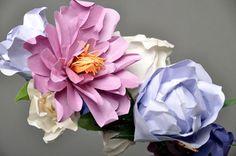 Juliet Spring paper bouquet by FrancesandFrancis on Etsy Giant Flowers, Cloth Flowers, Faux Flowers, Diy Flowers, Fabric Flowers, Paper Flowers, Handmade Flowers, Handmade Crafts, Paper Bouquet