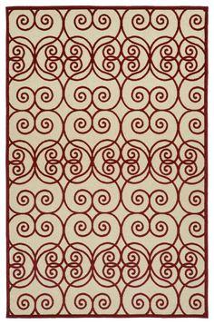 Five Seasons FSR108-25 Red Indoor/Outdoor Rug