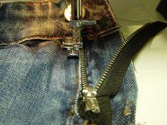 WIP! Alte Jeans - Austauschen eines Reißverschlußes, - ganz unkompliziert - Hobbyschneiderin 24 - Forum