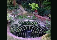 l bespoke oval dome design child safety pond cover made from polished stainless steel