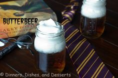 Butterbeer recipe for a Hogwart's party -- Harry Potter birthday   #kidsparty #hogwarts
