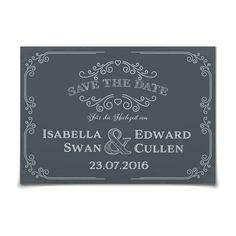 Save the Date Vintage Style in Schiefer - Postkarte flach #Hochzeit #Hochzeitskarten #SaveTheDate #elegant #vintage https://www.goldbek.de/hochzeit/hochzeitskarten/save-the-date/save-the-date-vintage-style?color=schiefer&design=dd7d0&utm_campaign=autoproducts