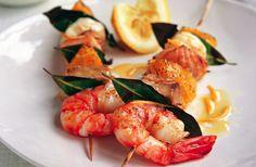 Salmon, Prawn And Tuna Kebabs Recipe | Food Republic