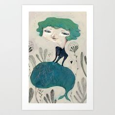 little mermaid Art Print by flaviasorr - $16.64