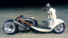 Custom Motorcycles, Custom Bikes, Vespa, Custom Honda Ruckus, Honda Metropolitan, Honda Legend, Honda Scooters, Scooter Custom, Baby Bike