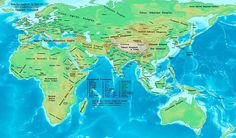 600 CE map showing tribes of Central Asia and north of China--ancient Turkic tribes