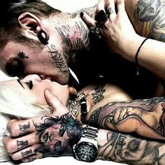 Hot tattooed lovers