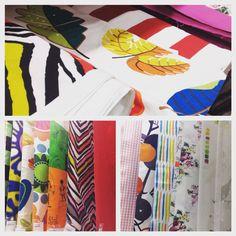 """No es por promocionar a Ikea que eso les sobra... Pero tienen unas telas a buen precio, calidad maja y estampados chulos para hacer """"Divinas Costuras"""" . #costura #divinacostura #sewing #malasaña #handmade #amorporlacostura #hechoamano #costuraenmalasaña #máquinadecoser #diy #craft #artesanía #taller #workshop #patchwork #crochet #punto #amigurumi #ocio #summer2015 #verano"""