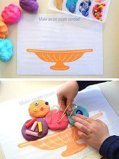 Free Printable: Fun Food Playdough Play Mats!