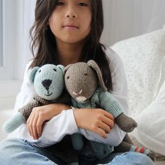 Organic Hand Knit Alice Toy Bear from PoshTots #PoshTotsPresidents