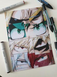 Anime Drawings Sketches, Anime Sketch, Tattoo Drawings, My Hero Academia Episodes, My Hero Academia Manga, Otaku Anime, Anime Art, Freundin Tattoos, Anime Character Drawing