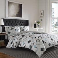 City Scene Jackson Grey and Aqua Cotton Duvet Cover Set Grey Comforter Sets, Duvet Sets, Duvet Cover Sets, Twin Comforter, Modern Bedroom, Bedroom Decor, Master Bedroom, Bedroom Ideas, Bedroom Inspo