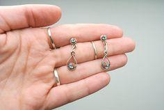 Turquoise Sterling Silver Drop Earrings // Vintage by RHvintage, $15.00