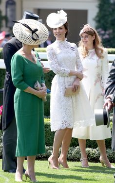 Sophie, Countess of Wessex, Catherine, Duchess of Cambridge and Princess Beatrice of York attend Royal Ascot 2017 at Ascot Racecourse on June 20, 2017 in Ascot, England.