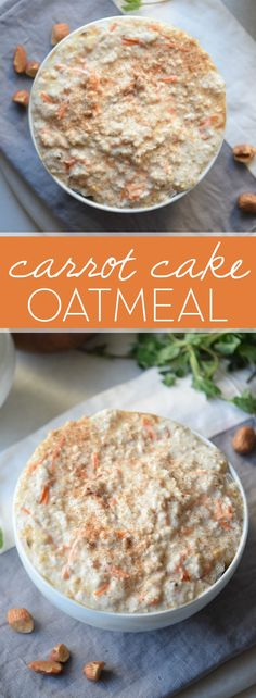Whip up a batch of this Carrot Cake Oatmeal for an easy, weekday breakfast. Because who wouldn't want cake for breakfast?