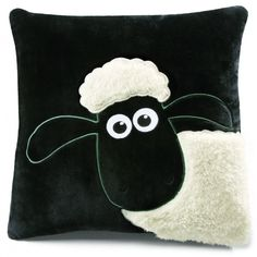 Shaun the Sheep Cushion #shaunthesheep @katiebrouse the girls would love these!