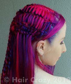 very punk braids | Short Multi Colored Hair